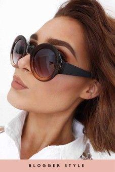 Abbie Brown Ombre Round Sunglasses
