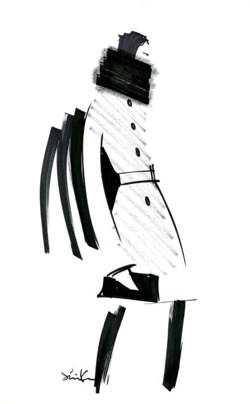 Fashion Sketch 1 from the @Banana Republic Anna Karenina collection #BRAnnaK