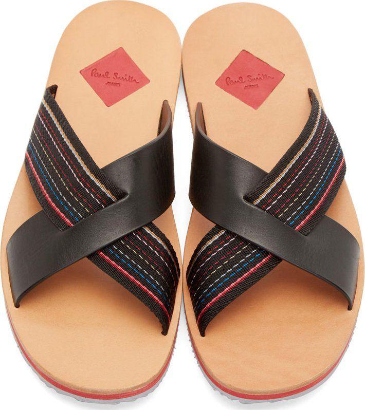 Paul Smith Jeans Black Kohoutek Sandals