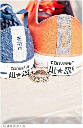 mr and mrs chuck taylors | custom wedding shoes custom converse chuck taylor orange blue wife ...