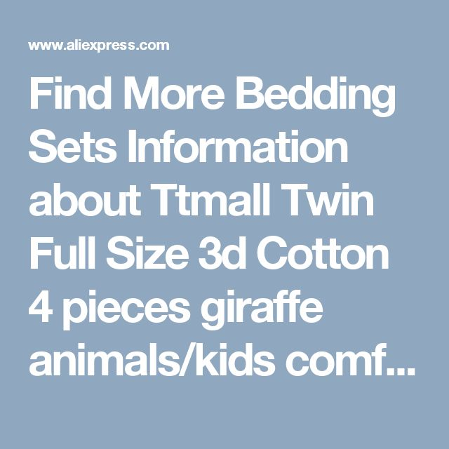 Find More Bedding Sets Information about Ttmall Twin Full Size 3d Cotton 4 pieces giraffe animals/kids comforter sets/modern bedding/duvet covers/cheap comforter sets,High Quality comforter bedroom sets,China comforter set king size Suppliers, Cheap comforter set orange from Queen's on Aliexpress.com