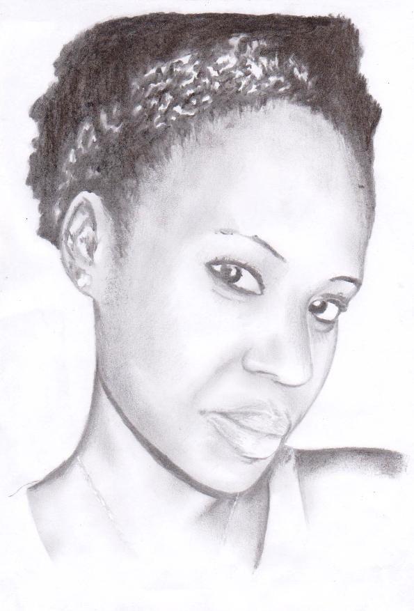 A4 Portrait charcoal on paper