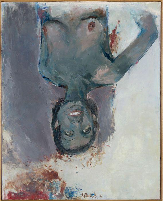 Georg Baselitz, Fingermalerei – Schwarze Elke, 1973