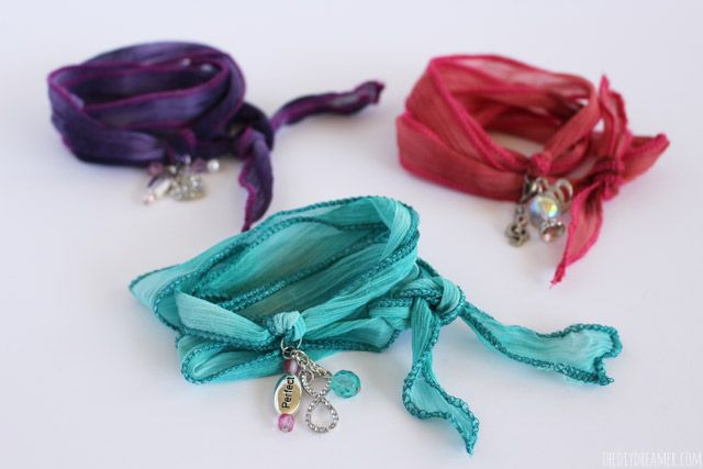 Silk Wrap Bracelets - Tutorial by Gabrielle (9 years old) - Easy Jewelry Making