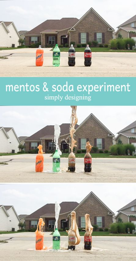 mentos and soda experiment - come see the results of testing this experiement not only on diet coke but on other sodas too