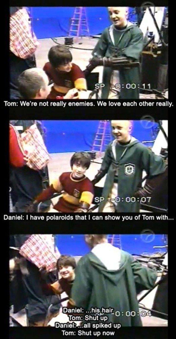 Quando Daniel e Tom provaram que as melhores amizades são aquelas em que as pessoas provocam uma à outra.
