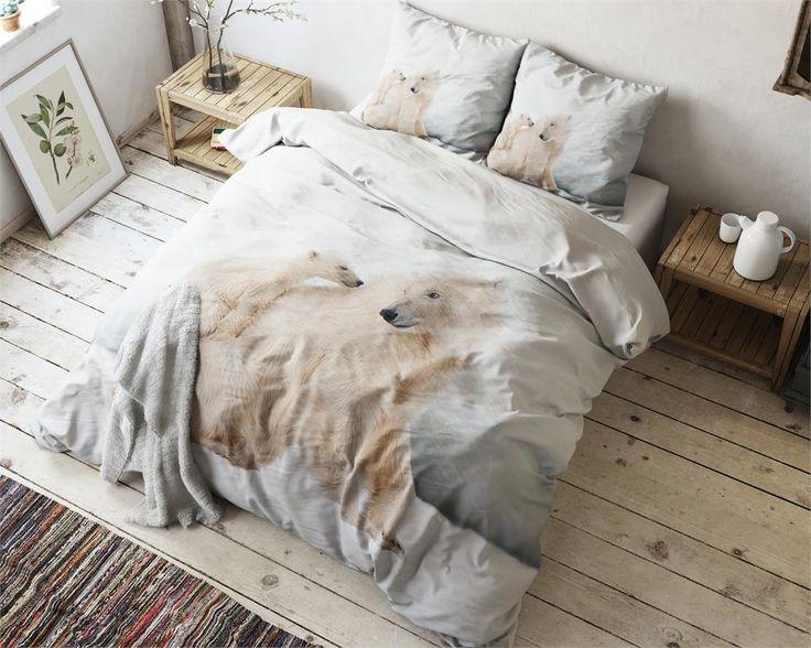 Dekoracyjna Pościel Holenderska 200x220 Misie Miś Polarny White Bears