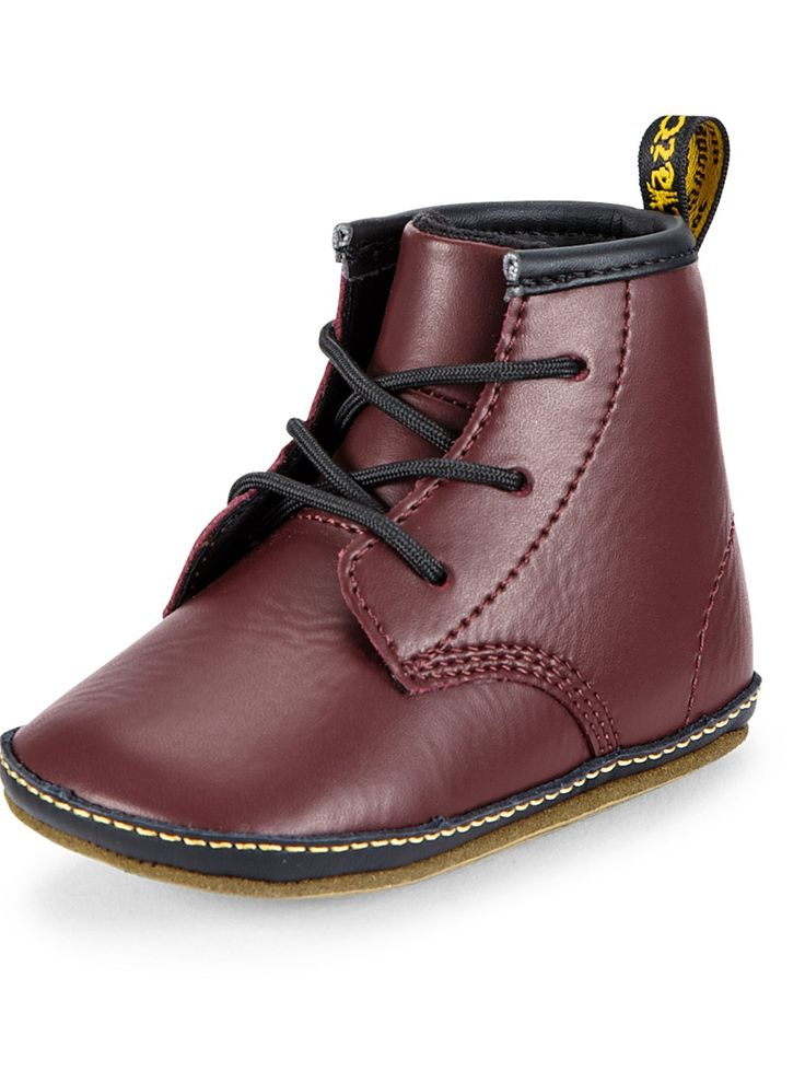 Dr Martens Baby Booties - Black, Cherry Red