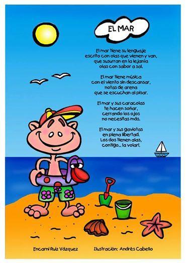 Y se encontró con un niño. El mar   Poemas infantiles, Cuentos cortos para imprimir