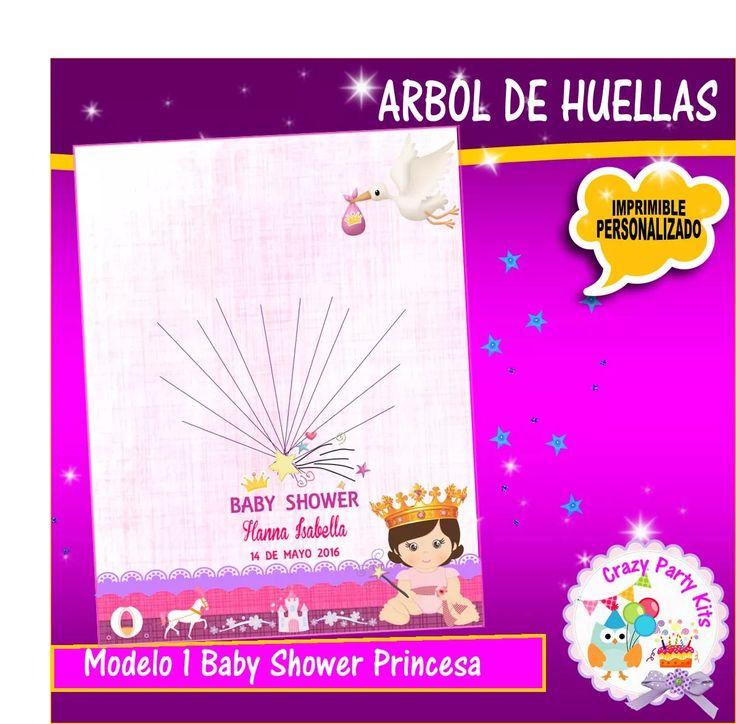 Arbol De Huellas Para Baby Shower!!! - https://www.facebook.com/PartyCrazyKits/home