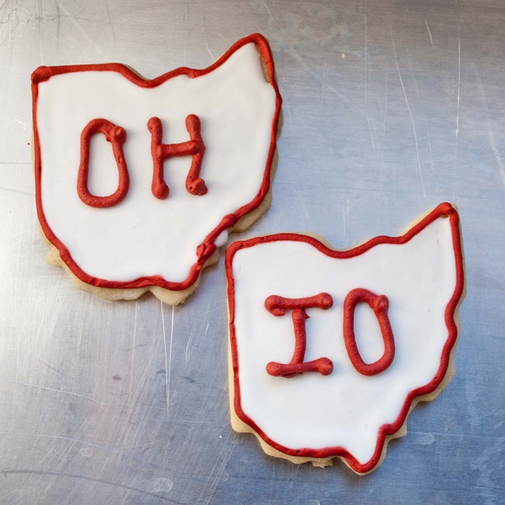 Bake. Eat. Repeat.: Ohio State Cut Out Sugar Cookies for The Game