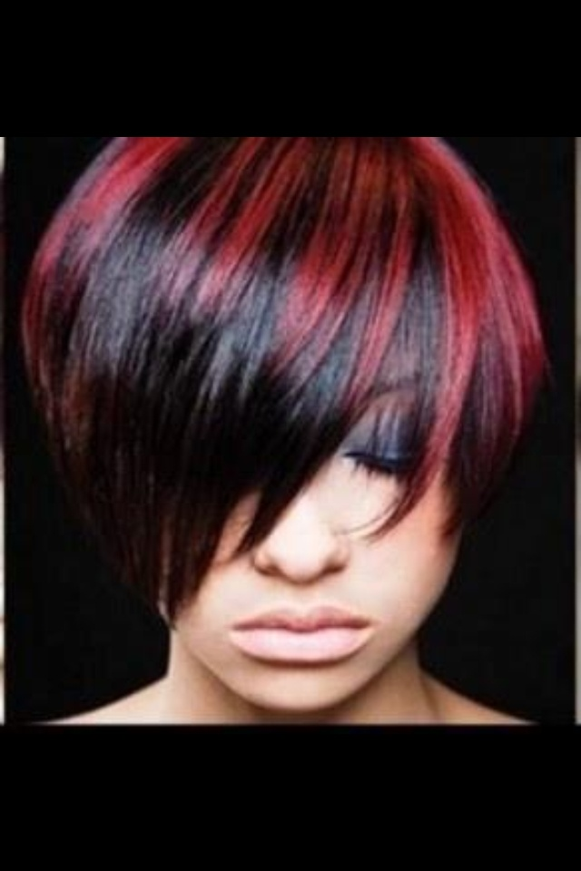 Red and black hair. I want this but opposite