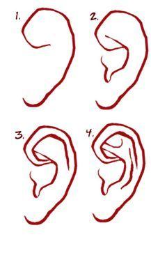 Hier kon ik kijken hoe je een oor moest maken, maar heb uiteindelijk geen oren hoeven te maken.