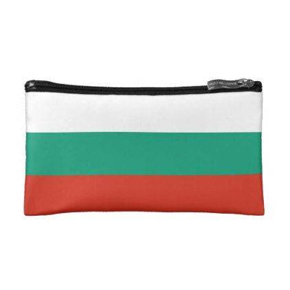 #Patriotic Bulgarian Flag Makeup Bag - #travel #accessories