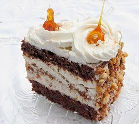 .: Tort cu ciocolata, bezea si crema de lapte