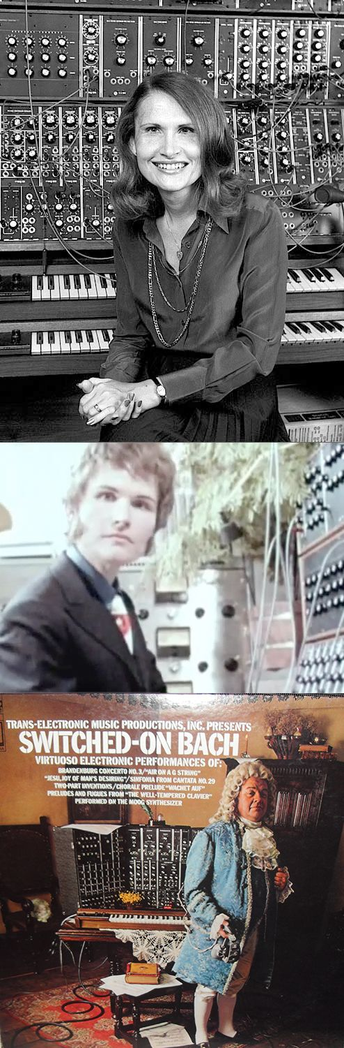 Wendy Carlos (born Walter Carlos), a child musical prodigy, came to prominence in 1968 at age 29 with the release of Switched-On Bach,  a recording of music by J.S. Bach painstakingly assembled, phrase-by-phrase, on the Moog synthesizer. At the time it was a relatively new and unknown musical instrument. Carlos was aware of her gender dysphoria from an early age, and after the success of Switched-On Bach, in May of 1972 she was able to undergo sex reassignment surgery.