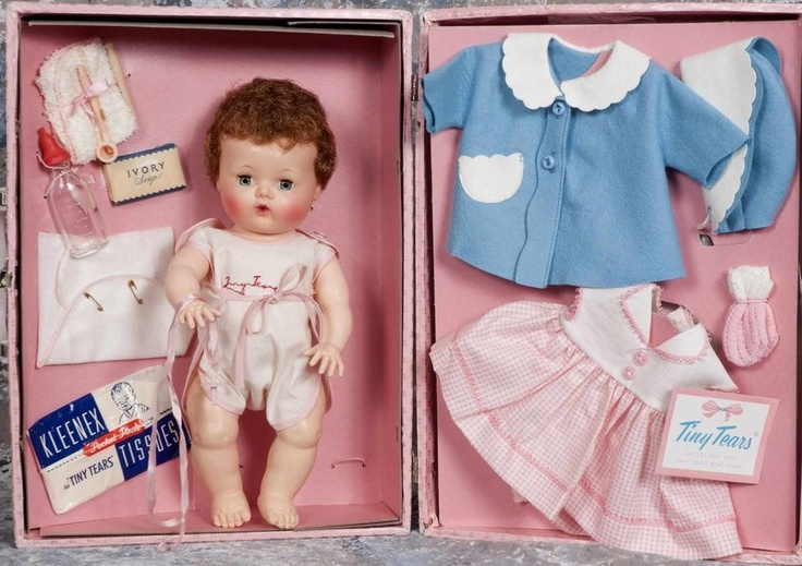 www.rubylane.com...Tiny Tears Doll 1958...         I had a Tiny Tears doll just like this one when  I was 3 or 4. Vickie