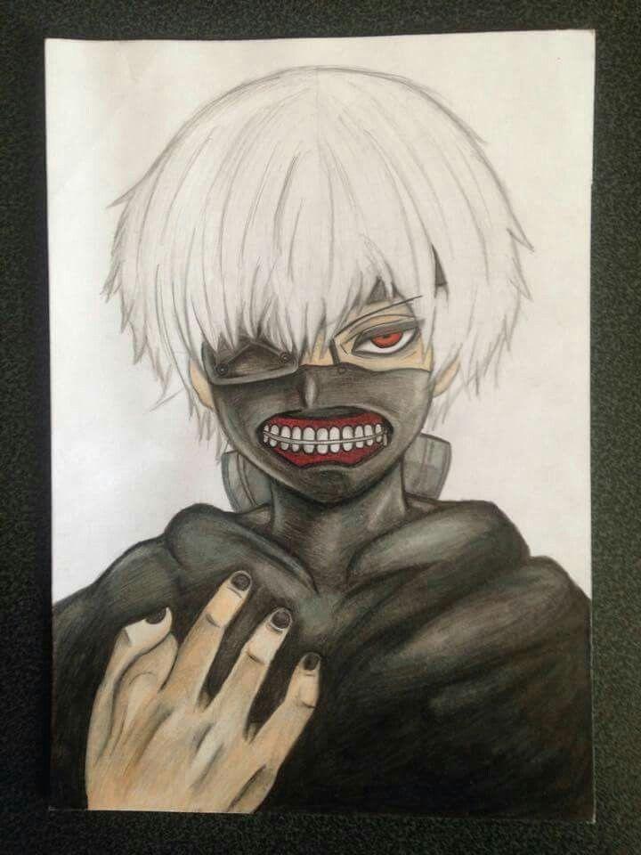 Drawing of Mirai -Kaneki ken - Tokyo Ghoul