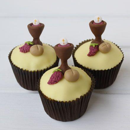 Sin Recetas » Cupcakes Primera Comunión niño