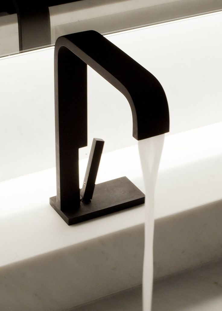 """""""Andrew"""" single lever washbasin mixer by Co Studio for RVB"""