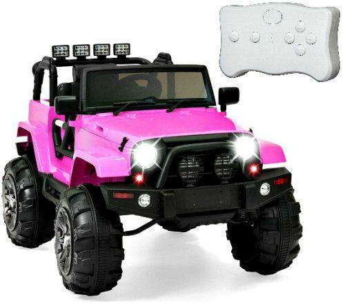Pink Ride On Toy Girls 12V Battery Powered Electric Car 3 Speed LED Light Radio #SmartDealsMarket