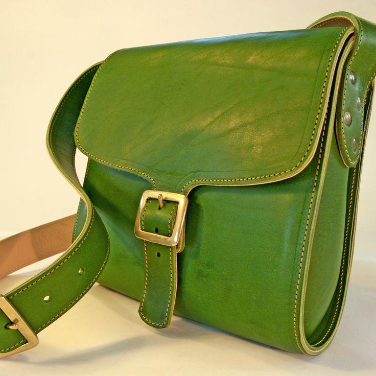 Square Ladies Leather Shoulder Bag | Wolfram Lohr