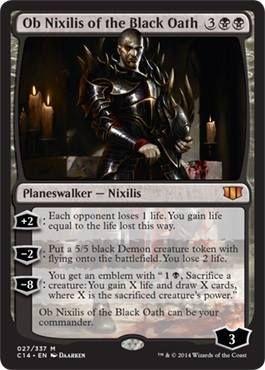 Ob NIxilis of the Black Oath mythic rare Magic the Gathering Commander black card mtg