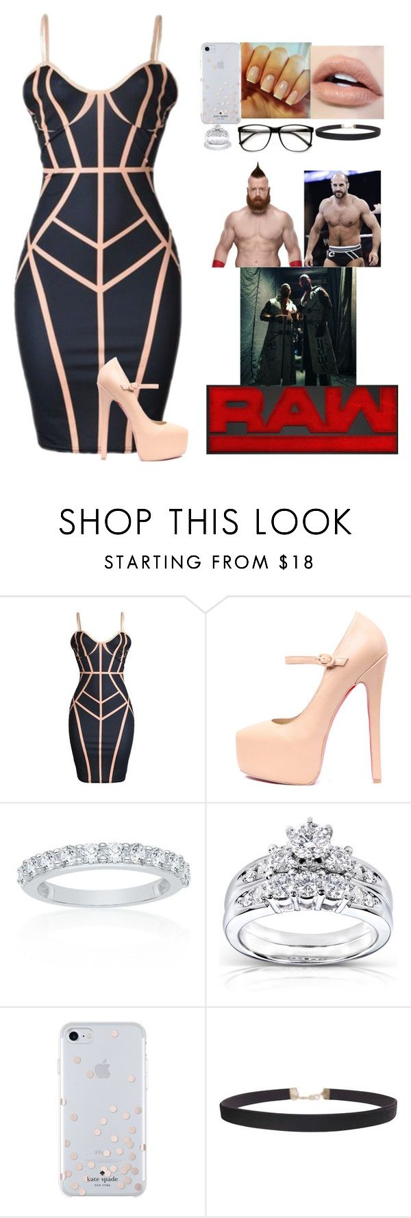 """Monday Night Raw (Tag Team Championship rematch)"" by xxxladiidxxx ❤ liked on Polyvore featuring Belk & Co., Kobelli, Kate Spade, Humble Chic, ZeroUV and WWE"