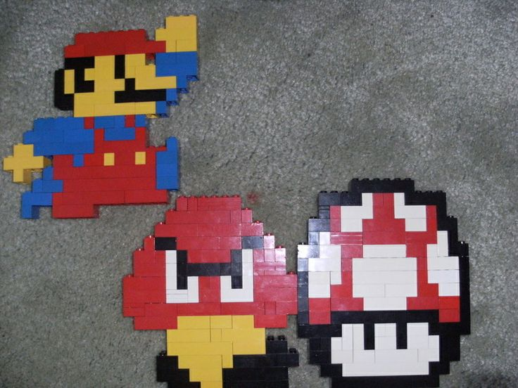 8 bit lego mario wall decor stuff i need pinterest for 8 bit decoration