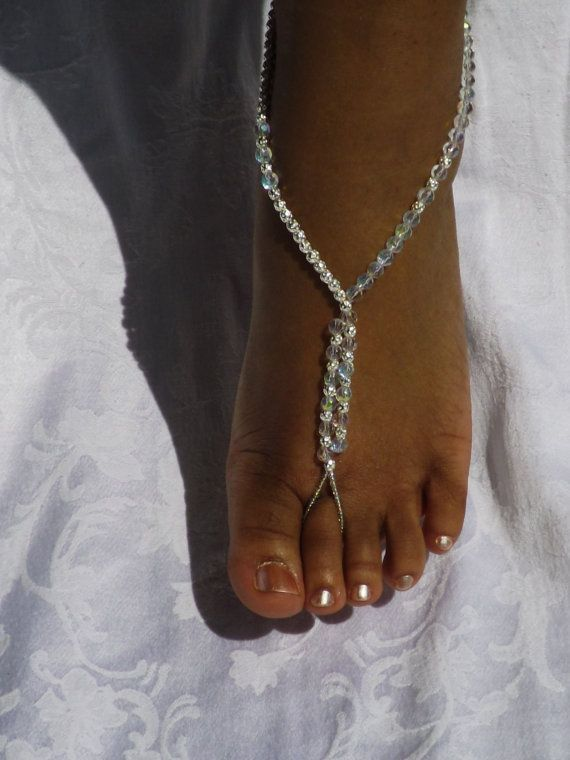 Wedding Barefoot Sandals Bridal Jewelry Destination Wedding Beach Jewelry