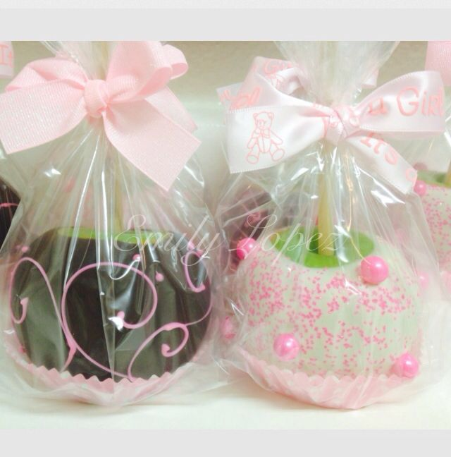 caramel chocolate covered apples welcome baby baby shower