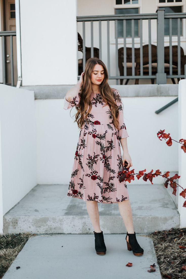 Blossom Dusty Pink Dress