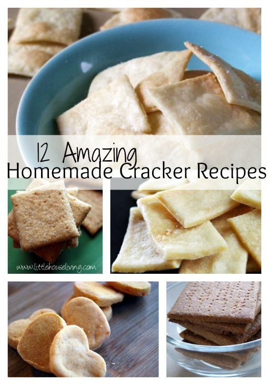12 Homemade Cracker Recipes that you have to try! Yummy, fresh tasting snacks.
