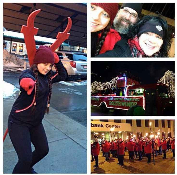 2016 Volunteering with the Saint Paul Winter Carnival Torchlight Parade - always fun memories! ❄️