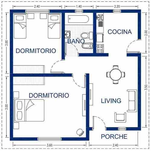 Las 25 mejores ideas sobre planos de casas chicas en for Planos y diseno de muebles