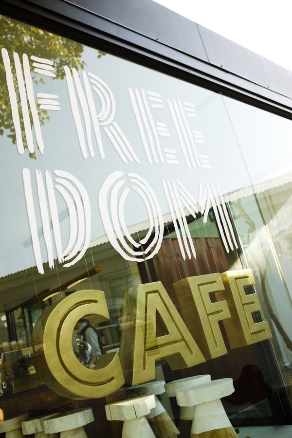 FREEDOM CAFE | SIGNAGE by Hylton Warburton, via Behance