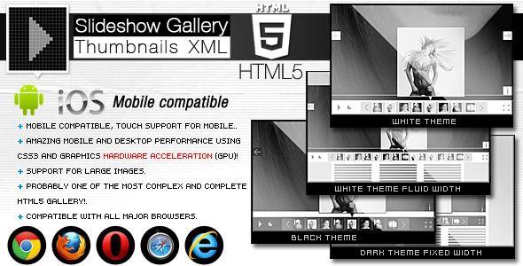 HTML5 Slideshow Gallery Thumbnails XML