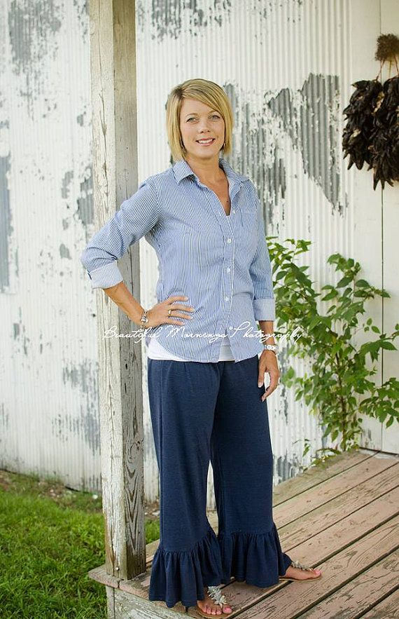 Women's and Kids Ruffled Pants.....Weekend by MissPrissClothing