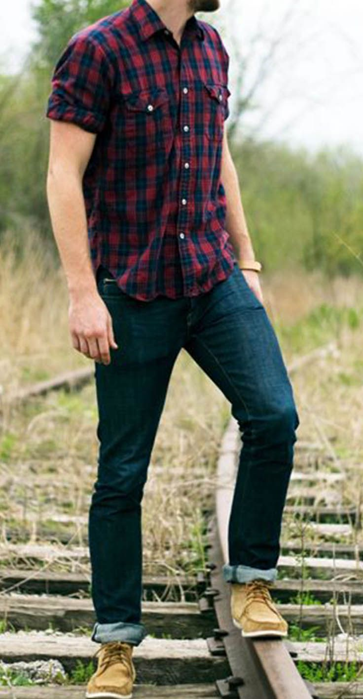 The Right Look : Mesh, Plaid Shirt and Jeans and how to rock them