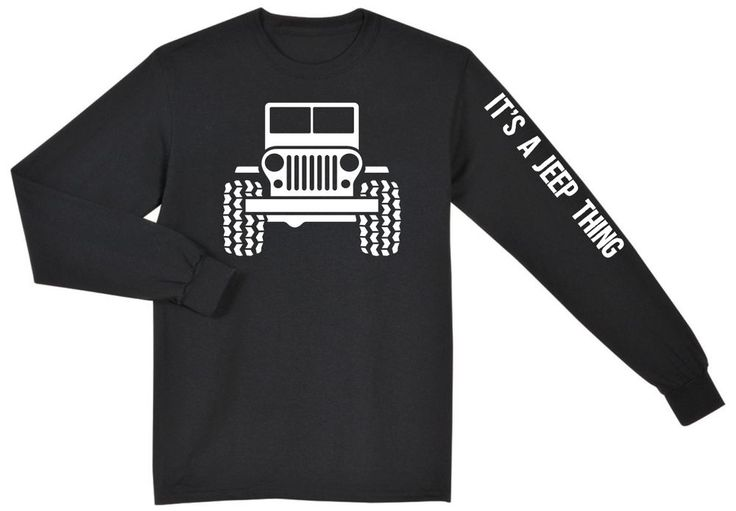 Jeep Wrangler Rubicon Unlimited CJ YJ Long Sleeve T Shirt, New in Clothing, Shoes & Accessories, Men's Clothing, T-Shirts | eBay