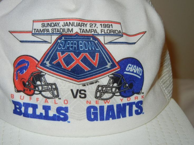Buffalo Bills New York Giants Super Bowl XXV OSFA snapback hat cap New Era #NewEra #NewYorkGiants