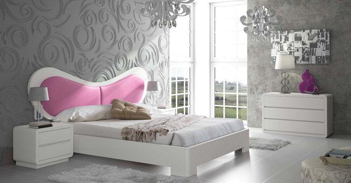 Gepolstertes Holzbett SCARLETT. Dekoration Beltrán, Ihr Webshop für originelle Betten mit Polster.