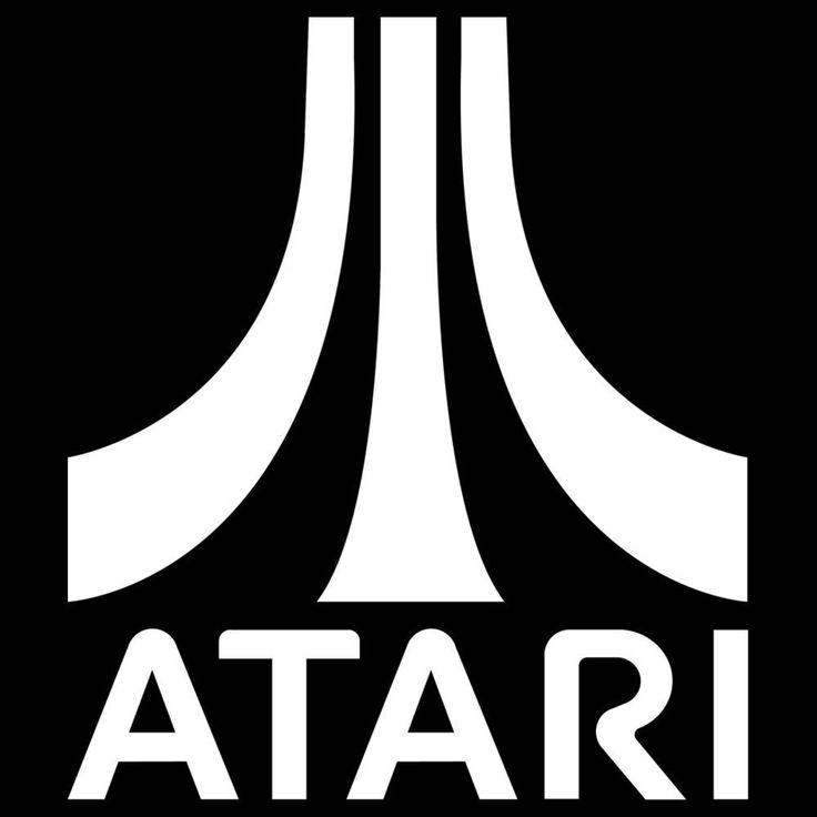 Atari Logo Vinyl Decal Sticker gaming pacman invader asteroid pong 029