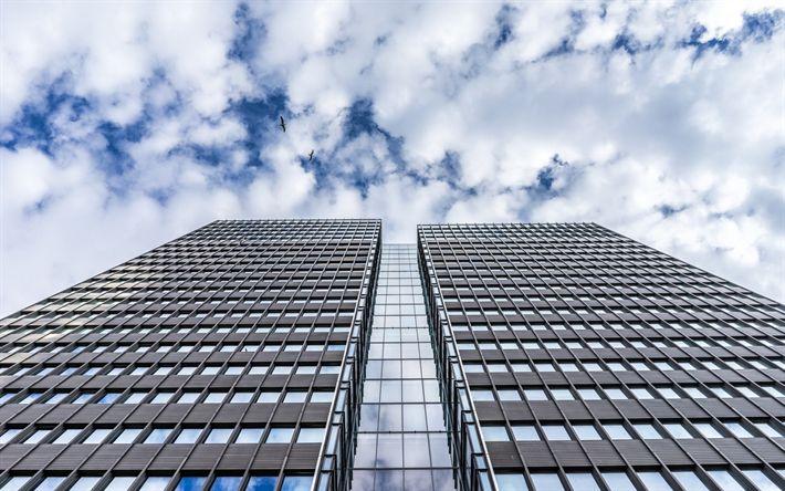 Lataa kuva Moderneja rakennuksia, pilvenpiirtäjiä, liikekeskukset, julkisivut pilvenpiirtäjiä, moderni arkkitehtuuri