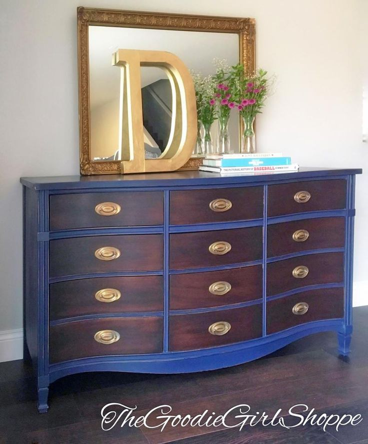 Java and Coastal Blue Dresser | General Finishes Design Center