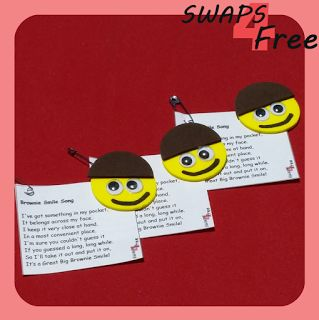 SWAPS4Free: Brownie Smile Song Girl Scout SWAPS - Free Printable Cards!