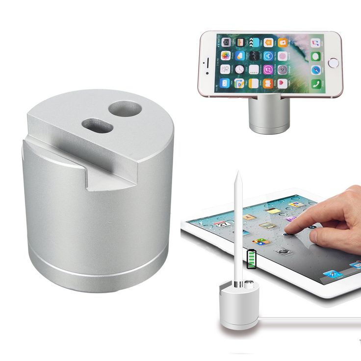 Detachable Aluminum Charging Dock Station Stand Holder For Apple Pencil iPhone i…