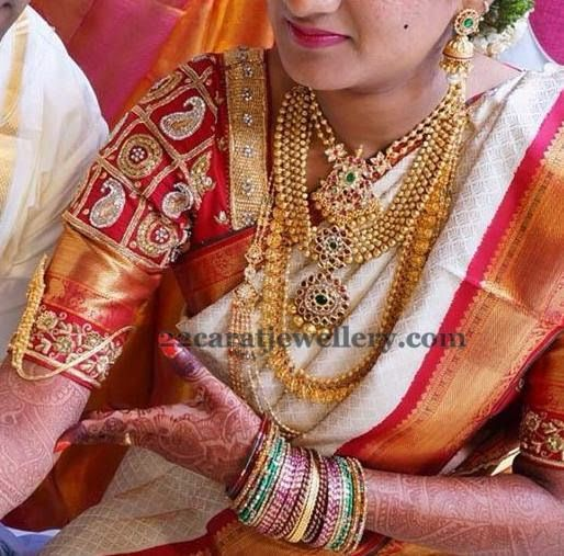 South Indian Bride Traditional Gold Sets