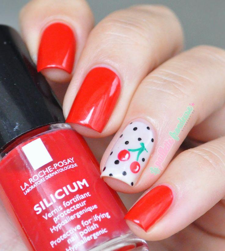 La roche posay cherry nails