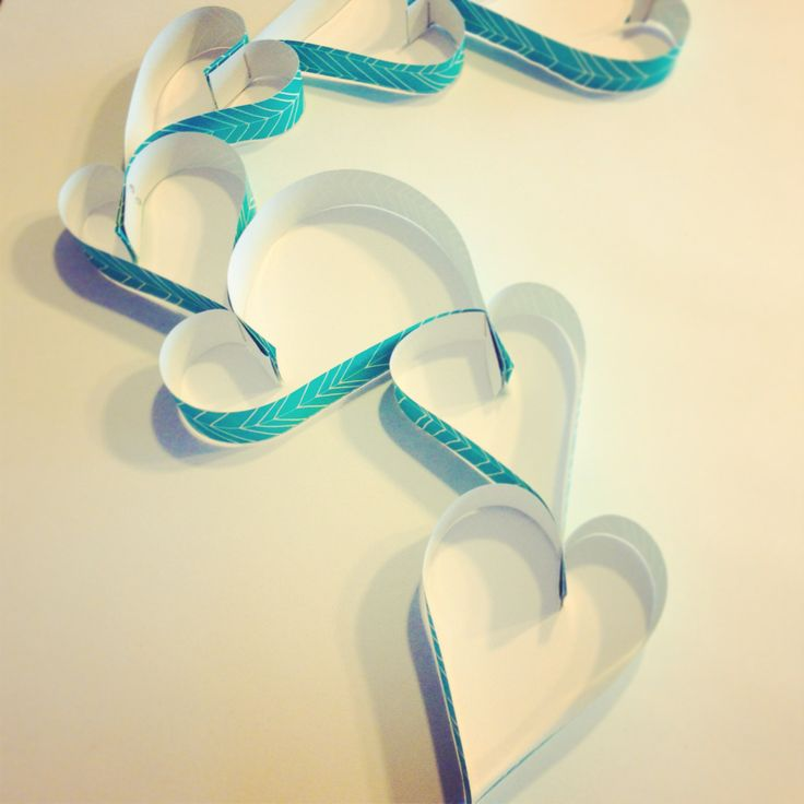Getting crafty for Valentines Day :) paper craft chain of hearts ♥ from ICE Creative